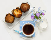 Muffins and coffee — Stock Photo