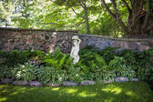 Shady perennial garden — Stock Photo