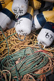 Fishing floats and rope — Stock Photo