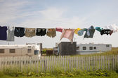Trailers in North Rustico — Stock Photo
