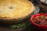 Tourtiere meat pie — Stock Photo