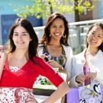 Young girlfriends shopping — Stock Photo #4718687