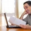 Man with laptop — Stock Photo #4953793