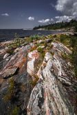 Rocky shore of Georgian Bay — ストック写真