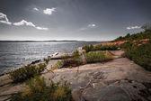 Rocky shore of Georgian Bay — Stock Photo