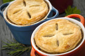 Homemade potpies — Stock Photo