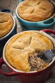 Homemade meat potpies — Stock Photo