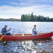 Family canoe trip — Stock Photo #7639231