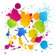 Colorful vector ink blots — Stock Vector