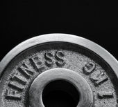 Dumbbell close up — Stock Photo