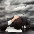 Businessman exhausted — Stock Photo