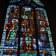 The baptism of Clovis. The stained glass of the Church of Saint-Laurent — Stock Photo