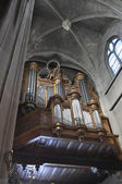 The organ of the Church of Saint-Laurent — Stock Photo