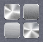 Brushed metal app icon templates 2 — Stock Vector
