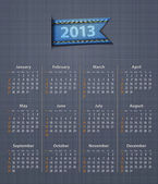 Calendar 2013 linen back jeans inset — Stock Vector
