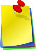Красочные записки с pin — Cтоковый вектор