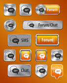 Forum/Chat/SMS web elements — Stock Vector