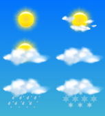 Weather icons set for print and web use — Stock Vector