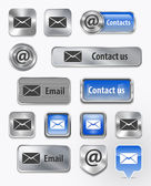 Contacts/Mail/Email web elements — Stockvektor