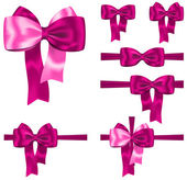 Pink ribbon set — Stockvector