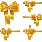 Golden ribbon set — Stock Vector #14389275