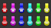 éléments de conception web de brillant et rayé coloré — Vecteur