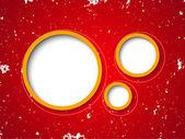Grunge kırmızı zemin üzerine konuşma balonları — Stok Vektör
