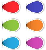 Reihe von bunten leere Klebeetiketten für design — Stockvektor