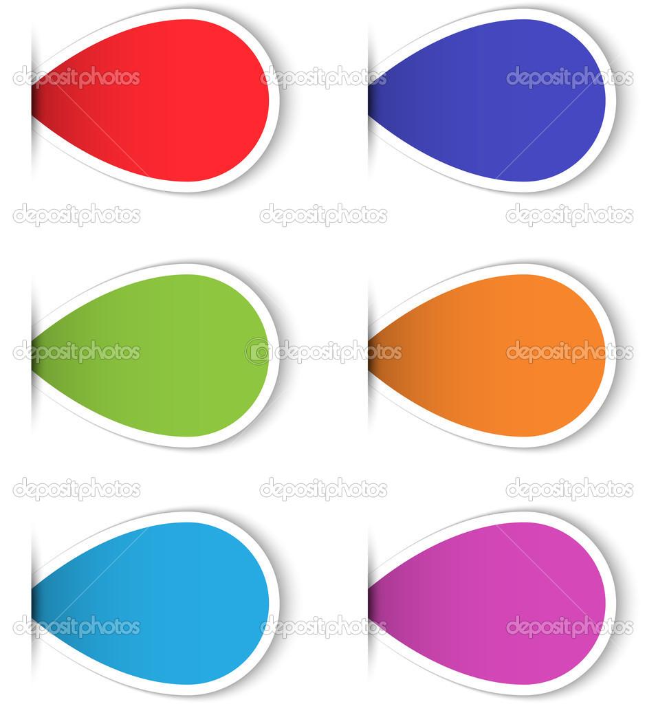 Blank Sticky Labels Set of Colorful Blank Sticky