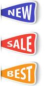 ショッピングのためのカラフルな付箋ラベルのセット — ストックベクタ