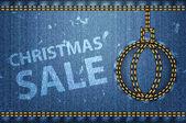 Palavras de venda de natal em fundo azul jeans — Vetorial Stock