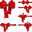 Gift ribbon and bow set - Stock Vector