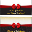 Merry Christmas and Happy New Year luxury greeting cards — Stockvektor