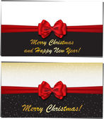 Merry Christmas and Happy New Year luxury greeting cards — Stock Vector