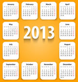 Calendar for 2013 on white stickies — Stock Vector