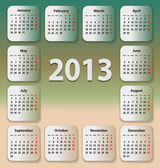 Calendar for 2013 on stickies — Stock Vector
