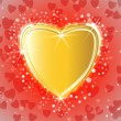Golden shiny heart on miracle background — Grafika wektorowa