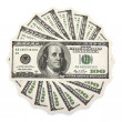 Royalty-Free Stock Photo: Dollar bank notes circle stack