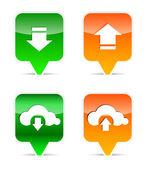 Pobierasz i wgrywasz elementy projektowanie stron internetowych — Wektor stockowy