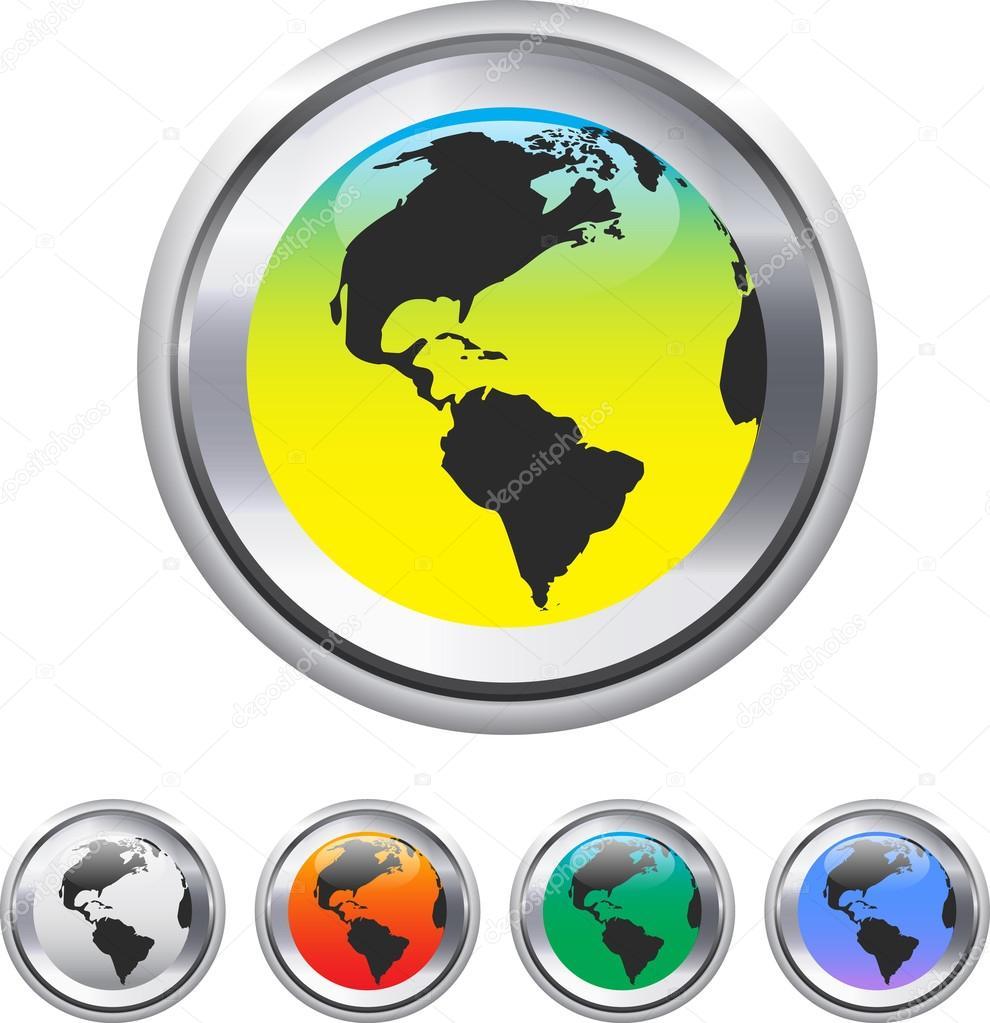 世界各地和世界地图上金属圈元素