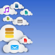 Vector de stock : Cloud computing abstract concept with icons