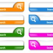 Colorful search bar design - Stock Vector