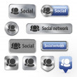 Collection of Social network elements for web design — Stock Vector