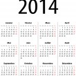 Colorful calendar for 2014 — Stock Vector #25152045