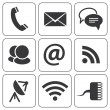 Stock Vector: Set of modern communication signs and icons