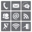 Set of modern communication signs and icons — Stock Vector