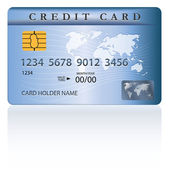 Credit or debit card design — Stock Vector