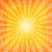 Sun Sunburst Grunge Pattern — Stock Vector