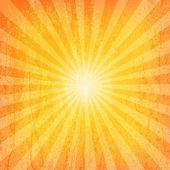 Sun Sunburst Grunge Pattern — Stock Vector
