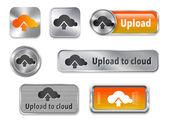 Caricare gli elementi web cloud 2-1 — Vettoriale Stock